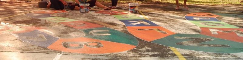 Malerei Freiwilligendienst in Indien 2011